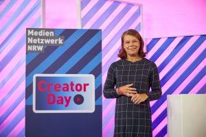 Sandra Winterberg (Mediennetzwerk.NRW) beim Creator Day