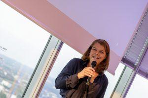 Sandra Winterberg (Mediennetzwerk.NRW) beim Private Screening der gamescom: Opening Night Live
