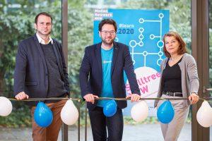 Skilltree.NRW - Coaching für die Games Branche. Timo Kern (MOTHERSHIP Marketing), Martin Linnartz (School of Games) und Sandra Winterberg (Mediennetzwerk.NRW)