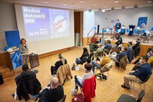Skilltree.NRW - Coaching für die Games Branche. Eröffnung durch Sandra Winterberg (Mediennetzwerk.NRW)