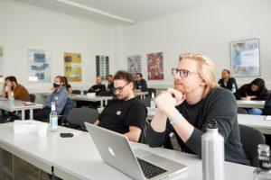 Skilltree.NRW - Coaching für die Games Branche. Teilnehmende im Workshop: Marcus Bäumer (Backwoods Entertainment), Utz Stauder (Ludopium)